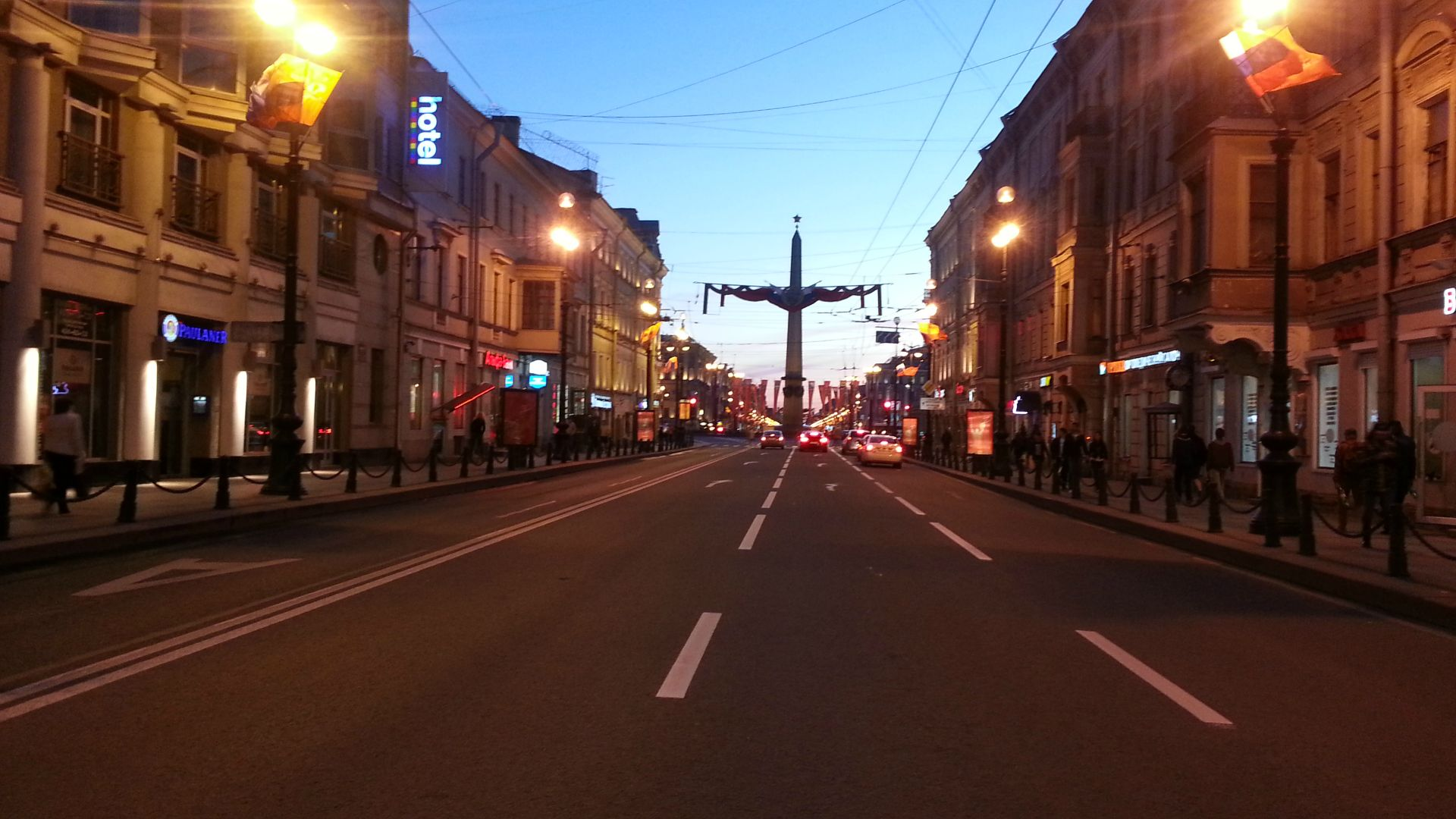 A typical St. Petersburg street